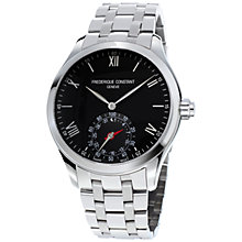 Buy Frédérique Constant FC-285B5B6B Men's Classics Horological Smartwatch Bracelet Strap Watch, Silver/Black Online at johnlewis.com
