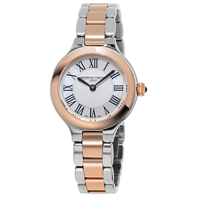Frédérique Constant FC-200M1ER32B Women's Delight Two Tone Bracelet Strap Watch, Silver/Rose Gold
