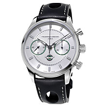Buy Frédérique Constant FC-397HS5B6 Men's Vintage Rally Healey Chronograph Leather Strap Watch, Black/Silver Online at johnlewis.com