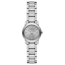 Buy Burberry BU9230 Women's The City Diamond Bracelet Strap Watch, Silver Online at johnlewis.com