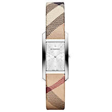 Buy Burberry BU9508 Women's Pioneer Check Strap Watch, Multi/Silver Online at johnlewis.com