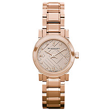 Buy Burberry BU9215 Women's The City Diamond Bracelet Strap Watch, Rose Gold Online at johnlewis.com