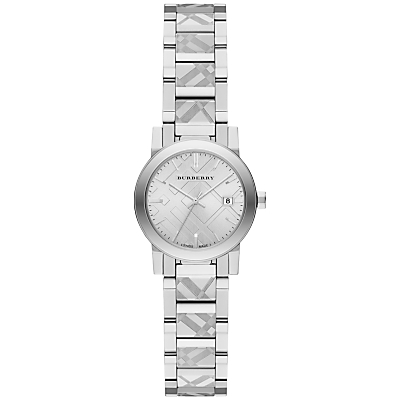 Burberry BU9233 Women's The City Date Bracelet Strap Watch, Silver