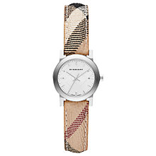 Buy Burberry BU9222 Women's The City Check Strap Watch, Multi/White Online at johnlewis.com