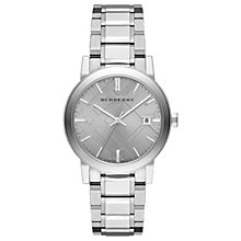 Buy Burberry BU9035 Women's The City Diamond Bracelet Strap Watch, Silver Online at johnlewis.com