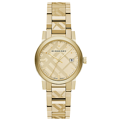 Burberry BU9145 Women's The City Date Bracelet Strap Watch, Gold