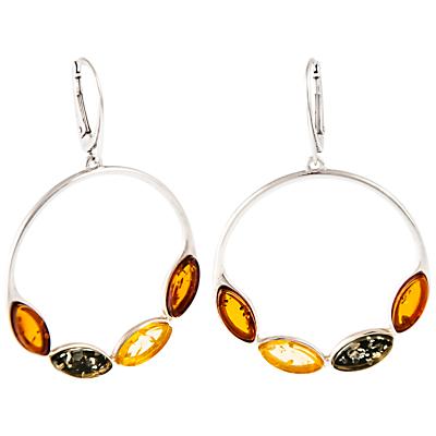 Be-Jewelled Amber Hoop Drop Earrings