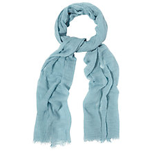Buy White Stuff Skinny Dreaming Away Scarf, Aegean Blue Online at johnlewis.com