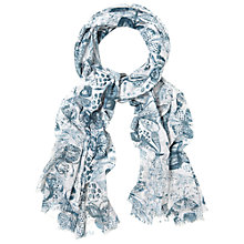 Buy White Stuff Monochrome Butterfly Scarf, Multi Online at johnlewis.com