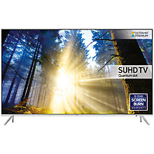 "Buy Samsung UE55KS7000 SUHD HDR 1,000 4K Ultra HD Quantum Dot Smart TV, 55"" with Freeview HD/Freesat HD, Playstation Now & Branch Feet Design, UHD Premium Online at johnlewis.com"