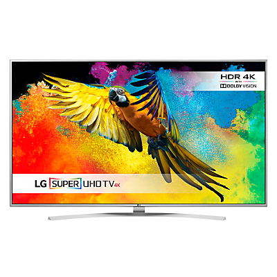 "LG 49UH770 LED HDR Super 4K Ultra HD Smart TV, 49"" With Freeview HD/freesat HD, Harman Kardon Sound & Bright Metal Design"