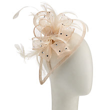 Buy John Lewis Diamanté Teardrop Occasion Hat, Champagne Online at johnlewis.com