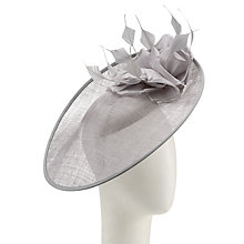 Buy John Lewis Kira Arrow Feather Disc Occasion Hat, Silver Online at johnlewis.com