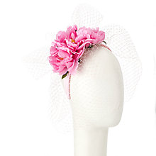 Buy John Lewis Rita Satin Flower Headband Fascinator, Pink Online at johnlewis.com