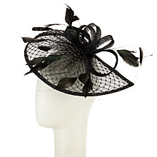 Buy Snoxells Diamante Teardrop and Loops Fascinator, Black Online at johnlewis.com