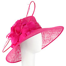 Buy John Lewis Elena Large Flower Occasion Hat, Hot Pink Online at johnlewis.com