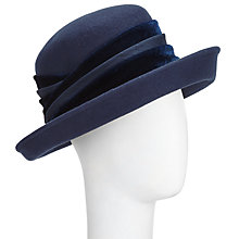 Buy John Lewis Cassie Felt Occasion Hat, Navy Online at johnlewis.com