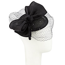 Buy John Lewis Lou Pillbox and Bow Fascinator, Black Online at johnlewis.com