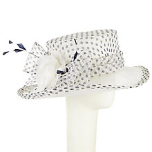 Buy John Lewis Josie Spotted Occasion Hat, Cream/Navy Online at johnlewis.com