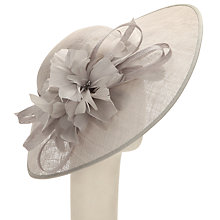 Buy John Lewis Rei Large Disc and Flower Detail Occasion Hat, Silver Online at johnlewis.com