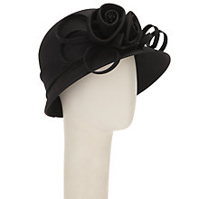 Buy John Lewis Gabby Shantung Cloche Occasion Hat, Black Online at johnlewis.com
