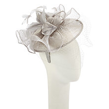 Buy John Lewis Tanice Veil Disc Fascinator, Silver Online at johnlewis.com