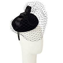 Buy John Lewis Faith Velvet Fascinator, Black Online at johnlewis.com