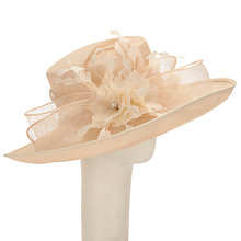 Buy John Lewis Mina Upturn Flower Occasion Hat, Champagne Online at johnlewis.com
