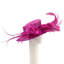 Buy John Lewis Rory Large Feather Occasion Hat, Magenta Online at johnlewis.com