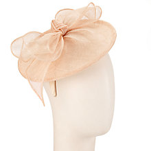 Buy John Lewis Kat Small Bow Disc Fascinator, Champagne Online at johnlewis.com