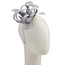 Buy John Lewis Shantung Loop Fascinator, Silver Online at johnlewis.com
