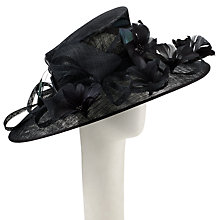 Buy John Lewis Aisha Down Brim Twist Occasion Hat, Black Online at johnlewis.com
