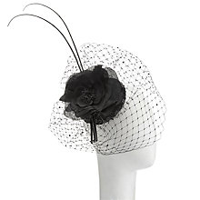 Buy John Lewis Elena Sequin Pillbox Fascinator, Black Online at johnlewis.com