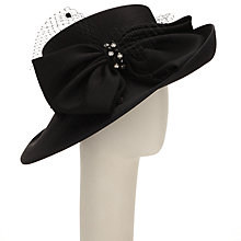 Buy John Lewis Kara Diamante Bow Shantung Occasion Hat, Black Online at johnlewis.com