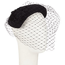 Buy Whiteley Spectre Pillbox and Veil Occasion Hat, Black Online at johnlewis.com