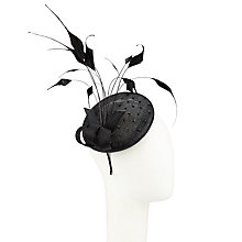 Buy John Lewis Jordan Feather Quills Pillbox Fascinator, Black Online at johnlewis.com