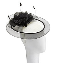 Buy John Lewis Olivia Disc and Crin Fascinator, Cream/Black Online at johnlewis.com