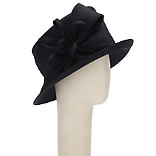 Buy John Lewis Vera Bow and Loop Shantung Occasion Hat, Navy Online at johnlewis.com