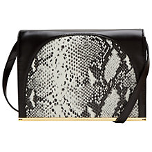 Buy Ted Baker Allys Snake Panel Leather Clutch Bag, Jet Online at johnlewis.com