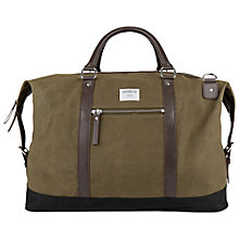Buy Sandqvist Jordan Waxed Holdall, Olive Online at johnlewis.com