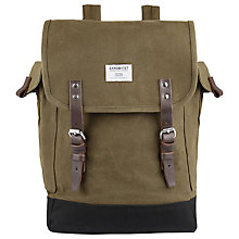 Buy Sandqvist Bob Waxed Backpack, Olive Online at johnlewis.com