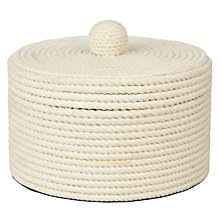 Buy John Lewis Rope Box, White Online at johnlewis.com