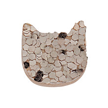 Buy Des Petits Hauts Lilou Cat Glitter Brooch, Gold Online at johnlewis.com