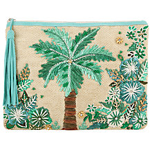 Buy Star Mela Tiki Clutch Bag, Natural Online at johnlewis.com