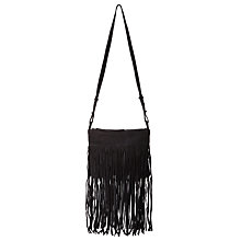 Buy Minimum Dianna Fringe Handbag, Black Online at johnlewis.com