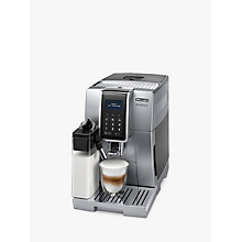 Buy De'Longhi ECAM350.75.SB Dinamica Bean to Cup Coffee Machine, Silver Online at johnlewis.com
