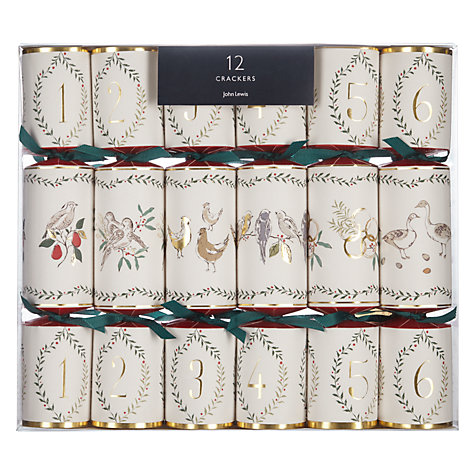 buy john lewis ruskin house 12 days of christmas crackers box of 12 john lewis. Black Bedroom Furniture Sets. Home Design Ideas