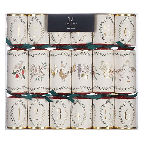 buy john lewis ruskin house 12 days of christmas crackers box of 12 john l. Black Bedroom Furniture Sets. Home Design Ideas