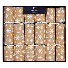 Buy John Lewis Snowshill Kraft Snowflake Crackers, Box of 12 Online at johnlewis.com