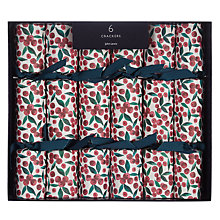 Buy John Lewis Ruskin House Mini Ditsy Berry Crackers, Box of 6 Online at johnlewis.com